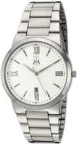 Jivago Men's 'Clarity' Quartz Stainless Steel Casual Watch, Color:Silver-Toned (Model: JV3510)