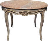 One Kings Lane Vintage French Coffee Table w/ Marble Top