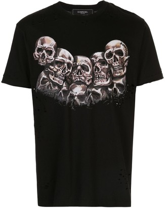 Dom Rebel Heads ripped T-shirt
