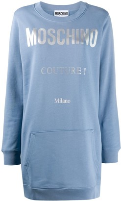 Moschino Logo-Print Sweatshirt Dress