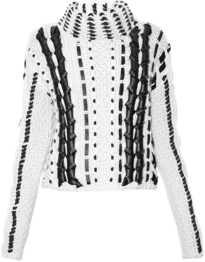 Altuzarra Caravan contrast roll-neck wool sweater