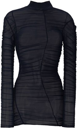 Richard Malone Sheer Turtleneck Mesh Top