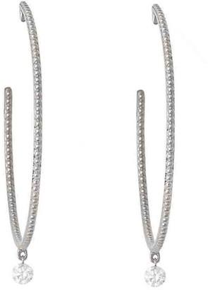 Raphaele Canot Set Free Large Diamond Hoop Earrings - White Gold