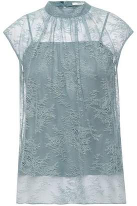 Erdem Gathered Chantilly Lace Top