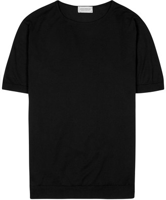 John Smedley Belden black cotton T-shirt