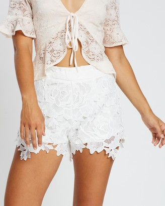 Missguided Crochet Lace Co-Ord Shorts