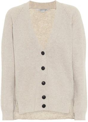 Stella McCartney Ribbed wool and alpaca cardigan