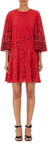 Valentino Women's Bird- & Floral-Print Silk Pleated Dress