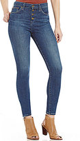 Big Star Ella Button Front High Rise Skinny Jeans