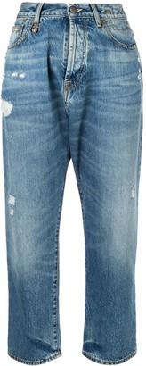 R 13 Bain distressed boyfriend jeans