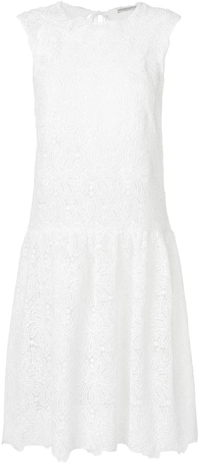 Ermanno Scervino Floral Lace Midi Dress