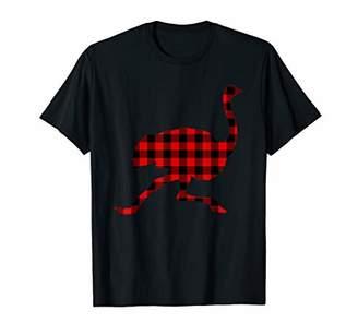 Buffalo David Bitton Ostrich Red Plaid Animal Matching Family PJ Gift T-Shirt