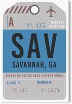 Oliver Gal Savannah Luggage Tag Wall Art