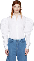 Marques Almeida White Puff Sleeve Shirt