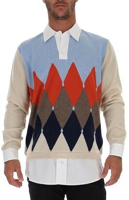 Ballantyne Layered Diamond Patterned Sweater