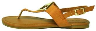 Qupid T-Strap, Metallic Ornament-Sandal