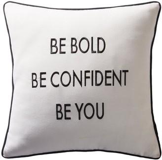 Karen Millen Be Bold Slogan Cushion