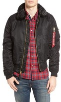 Alpha Industries Men's B-15 Removable Faux Fur Collar Flight Jacket