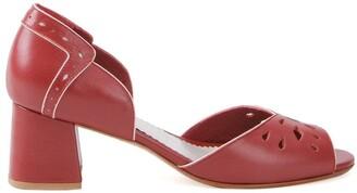 Sarah Chofakian Chunky Heel Sandals
