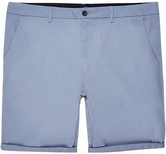 River Island Big and Tall grey skinny fit chino shorts