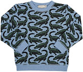 Stella McCartney Alligator-Print Cotton Sweatshirt