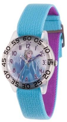 Disney Frozen 2 Elsa Girls' Clear Plastic Watch, 1-Pack