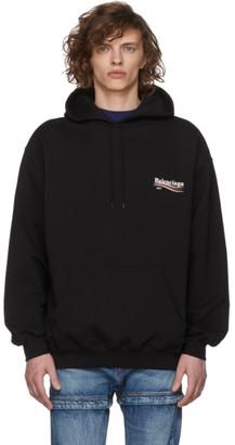 Balenciaga Black Campaign Logo Hoodie