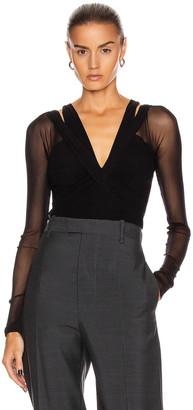 Noam for FWRD Daria Bodysuit in Black | FWRD