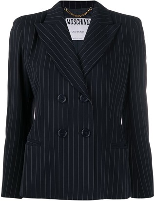 Moschino Pre-Owned 1990s Pinstriped Jacket