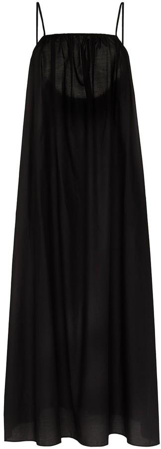 Matteau Square-Neck Cotton Maxi Dress