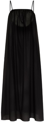 Matteau Square-Neck Cotton Maxi Dress