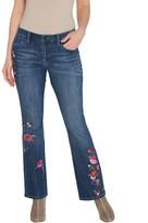 Laurie Felt Regular Classic Denim Embroidered Boot-Cut Jeans