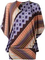 Issey Miyake geometric print blouse - women - Polyester/Polyurethane/Triacetate - 2