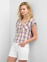 Gap Plaid popover shirt
