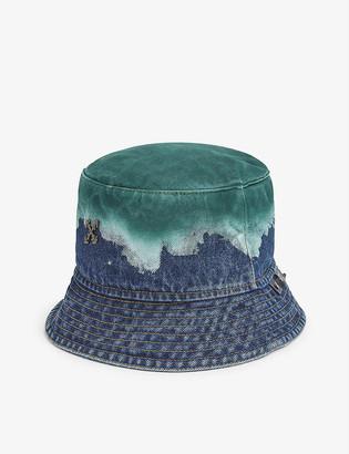 Off-White Logo-embellished degrade denim bucket hat