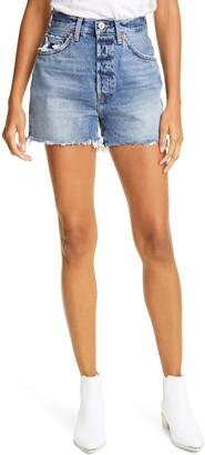 RE/DONE '50s Cutoff High Waist Denim Shorts