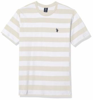 U.S. Polo Assn. Men's Big-Tall Stripe Crew Neck T-Shirt