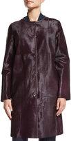 Lafayette 148 New York Della Calf Hair Coat