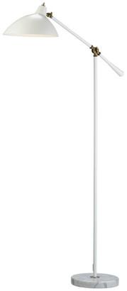 Adesso 3169-02 Peggy Floor Lamp, Antique Brass/White