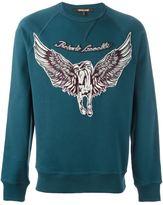 Roberto Cavalli embroidered Pegasus applique sweatshirt