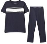 Tommy Hilfiger Navy Branded Pyjama Set