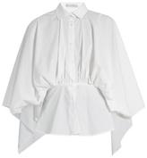 Palmer Harding PALMER//HARDING Open-back gathered-waist cotton-blend shirt