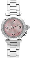 Pasha C Watch in Stainless Steel with Pink Dial