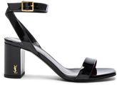 Saint Laurent Loulou Patent Leather Sandals