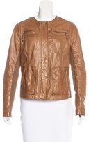 Vince Leather Long Sleeve Jacket