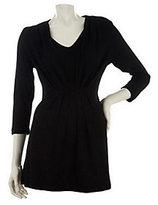 Liz Claiborne New York 3/4 Sleeve Tunic w/Pleat Detail