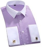 Dreamtao Men'S Dress Shirts Peaked Collar Long Sleeve Slim Fit Casual Shirt