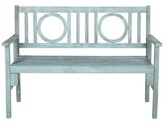 Beachcrest Home Fort Lauderdale Wooden Garden Bench Color: Beach House Blue