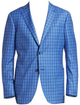 Saks Fifth Avenue Classic-Fit Checkered Wool Sportcoat