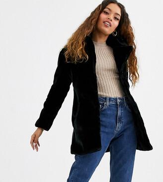 Brave Soul Petite tamsin faux fur jacket